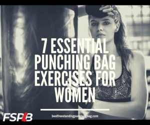 Punching bag exercises for women