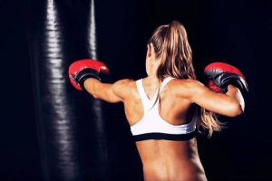 Punching bag workout for weight loss